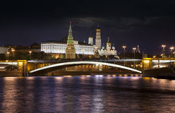 Night over the Moscow Kremlin Stock Photography