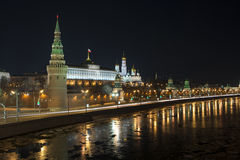 Night over the Moscow Kremlin. View of The Vodovzv Stock Photos