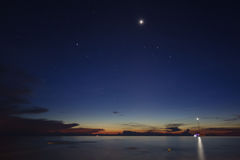 Night over Pulau Tioman Stock Photography