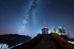 Night over Rodopi Mountain Stock Images