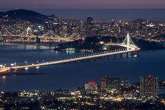 Night over San Francisco, as seen from Berkeley Hills Royalty Free Stock Photography