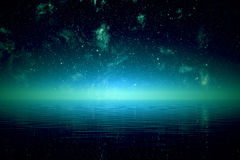 Night over sea. Stock Images