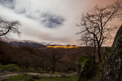 Night over Sibillini Royalty Free Stock Images