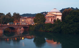 Night over Turin royalty free stock photography