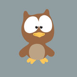Night Owl. An illustration of an owl at night Royalty Free Stock Photos
