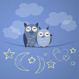 Night owl couple Stock Images
