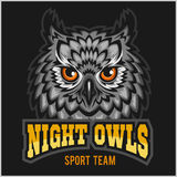 Night Owls - sport team. Head mascot Royalty Free Stock Image