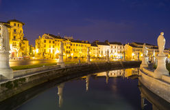 Night in Padua. Italy. Piazza Prato della Valle Royalty Free Stock Photography
