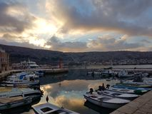 Night Pag in the sunset stock image