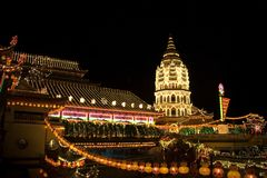 night pagoda Στοκ φωτογραφία με δικαίωμα ελεύθερης χρήσης