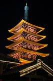 Night Pagoda Stock Photo