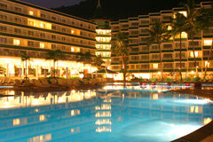 night palm pool swimming Στοκ Εικόνες