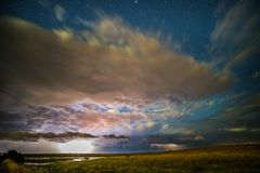 Night Pampas landscape, Argentina royalty free stock images