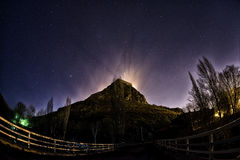 Night Panaroma in Kars Castle and Stars Stock Images