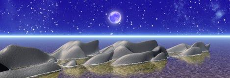 Night panorama vector illustration