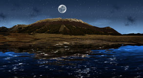 Night panorama royalty free illustration