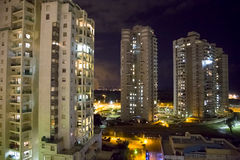 A night panorama is Bat-Yam Stock Image