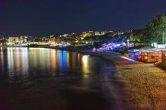 Night Panorama of beach, Sozopol Royalty Free Stock Photography