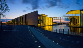 Night panorama.Berlin Royalty Free Stock Photos