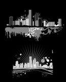 Night panorama of the big city Royalty Free Stock Photo