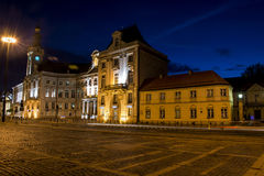 Night Panorama Building Old Town in Warsaw Poland Royalty Free Stock Images