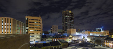 Night panorama of city Royalty Free Stock Photography