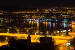 Night panorama of the city of Vladivostok Royalty Free Stock Images
