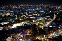 Night panorama of Fethiye, Turkey Stock Images