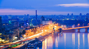 Night panorama of Kiev. Stock Photo