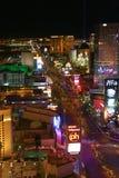 Night Panorama of Las Vegas Boulevard The Strip. Royalty Free Stock Image