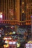 Night Panorama of Las Vegas Boulevard The Strip. Royalty Free Stock Photo
