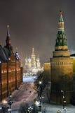 Night panorama of Manege Square Stock Photo
