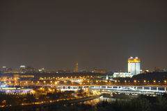 Night panorama of Moscow, Russia Stock Photos