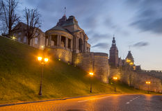 Night panorama of Old Town in Szczecin Stock Photo