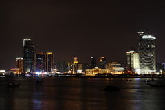 Night panorama overlooking Xiamen Royalty Free Stock Image