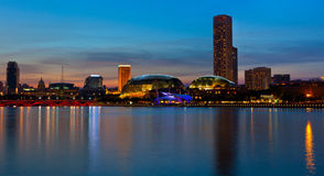 Night panorama of Singapore Stock Images