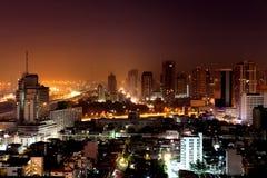 Night panorama view, Bangkok, Thailand. Royalty Free Stock Images
