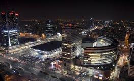 Night panorama of Warsaw Royalty Free Stock Images