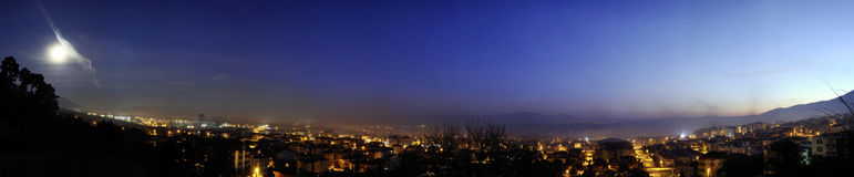 Night Panoramic View Royalty Free Stock Photo
