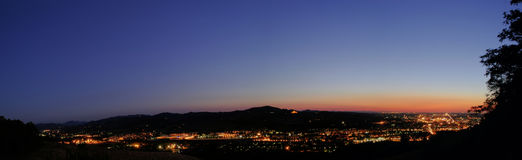 Night Panoramic View. Of Bologna, Italy Royalty Free Stock Images