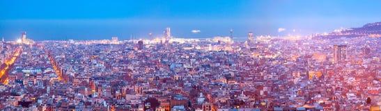 Night panoramic view of city Stock Image