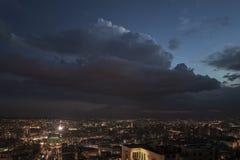 Night panoramic view on Yerevan city, Armenia. Night panoramic view of Yerevan city, Armenia Royalty Free Stock Image