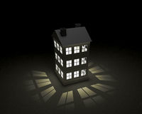 Night paper house Royalty Free Stock Image