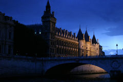 In the night in Paris stock photography