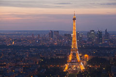 Night Paris. France. Top view. Royalty Free Stock Image