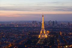 Night Paris. France. Top view. Stock Images