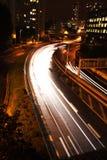 night paris traffic στοκ φωτογραφίες με δικαίωμα ελεύθερης χρήσης