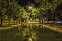 Night in the park Royalty Free Stock Image