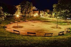 Night in the park Royalty Free Stock Photography