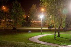 Night Park Stock Photo
